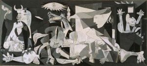Tip persoonlijke ontwikkeling voor ondernemers geïnspireerd op Picasso's Guernica, over het belang van actie, de eerste stap (ihkv loopbaanbegeleiding)